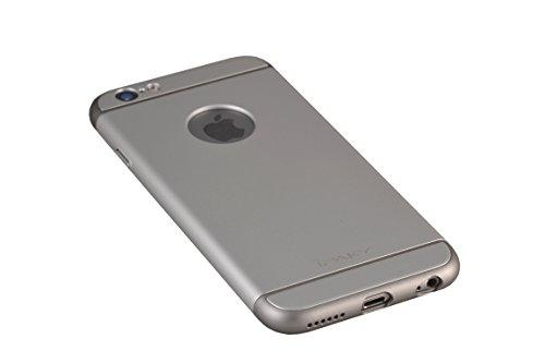 Oats Coque pour Apple iPhone 6 / 6s Etui panoramique Housse de Protection Case Cover Bumper - Noir Argent