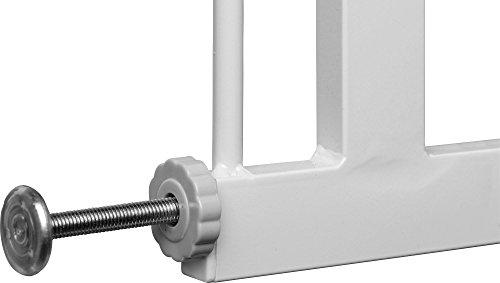 IB-Style - Treppengitter / Türgitter BERRIN zum Klemmen | 75 - 175 cm Erweiterbar durch Verlängerungen | Auto-Close - automatisches Schließen | 90° Stop-Funktion | Einhand-Bedienung | Öffnen in beide Richtungen | Metall Weiß | Spannbreite 75 - 85 cm - 5