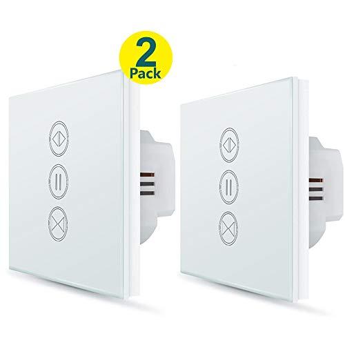 LoraTap 2x Interrupteur Volet Roulant Connecté, Commutateur Rideau Stores WiFi, Compatible avec...