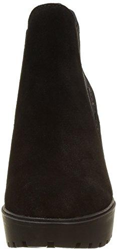 Calvin Klein Jeans Sydney Suede, Botte compensée  femme Noir (Blk)