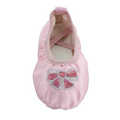 Wuyulunbi@ Donna di seta di balletto formazione piatto piatto rosa ,Rosa,US6 / EU36 / UK4 / CN36 US3.5 / EU33 / UK1.5 / CN32