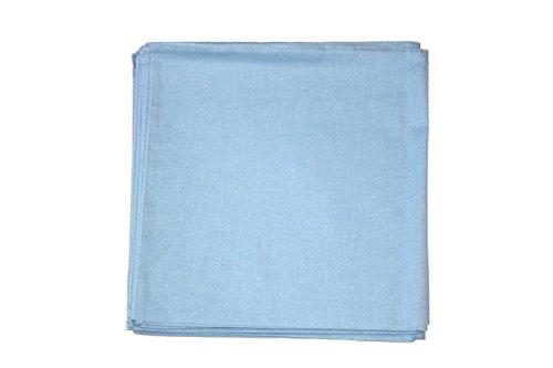 Alter Ego Zac's Foulard Bandana ® Uni, 100%  coton Multicolore - Bleu bébé