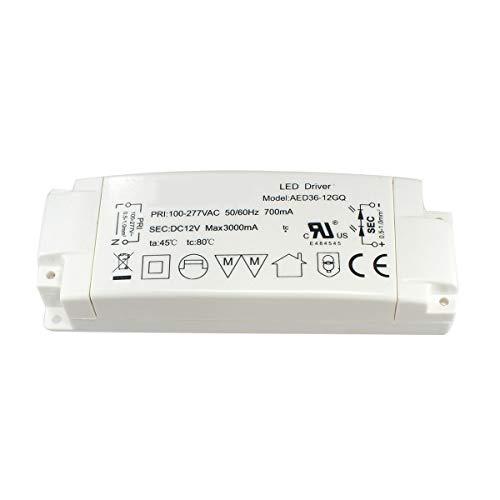 LED transformator 36W 3A für MR16 GU5.3 MR11 LED lampen, AC240V zu DC12V LED Driver, 1er Pack, Aiwode. - 277v Lampen