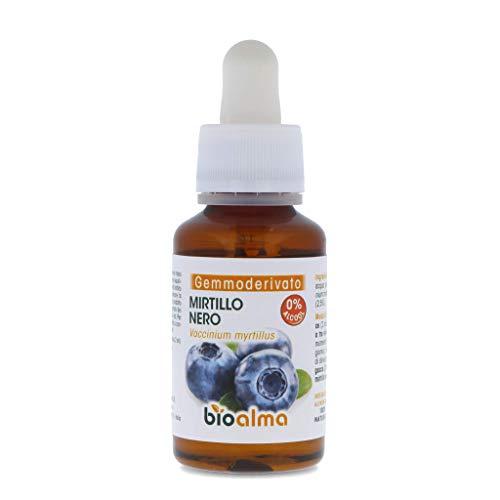 MIRTILLO NERO (VACCINIUM MYRTILLUS) GEMMODERIVATO BIOALMA – 60 ML. Prodotto a base di gemme purissime di mirtillo nero. 100% naturale, senza zuccheri aggiunti. Ideale anche per le donne in gravidanza.