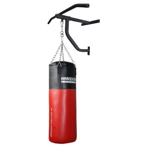 Hansson.sports 80 x 30 cm-sac de frappe rempli avec fixation murale &klimmuzugstange