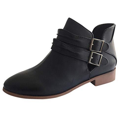 ➤Refill➤ Chelsea Boots Stiefeletten Damen Kurzschaft Leder mit Absatz Kurze Reissverschluss Bequem Stiefel Sandalen Damen mit Absatz Winterschuhe