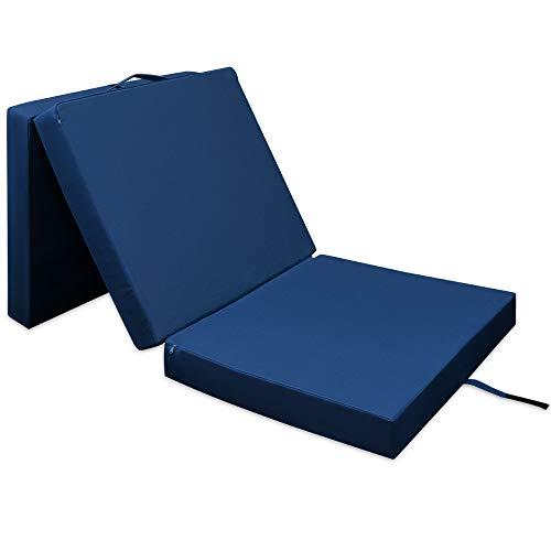*Deuba Matratze Klappmatratze Schlafsofa waschbarer Bezug Faltmatratze platzsparend 190 x 70 x 10 cm Blau*