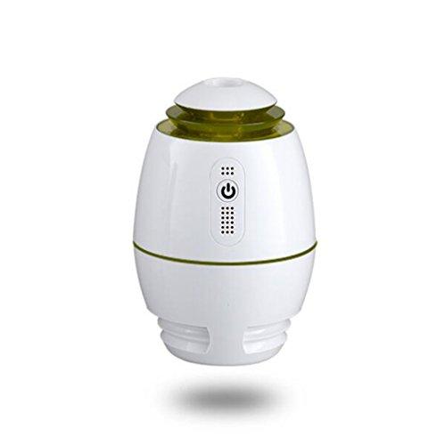DWCC Mini USB Auto Aromatherapie Luftbefeuchter Ultraschall Luft Wasserzähler Zerstäuber Einstellbare Nebel Modus Für Home Kid Schlafzimmer,Green