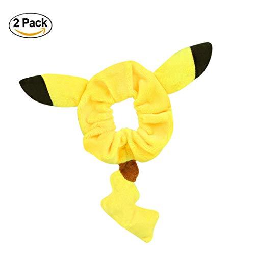 Pikachu Ohr- und Schwanzhalter aus Plüsch Pikachu Haarring, süßes Armband, Kostüme, Haaraccessoires