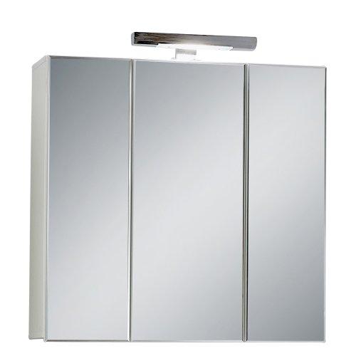 FMD Möbel 925-003 Spiegelschrank Zamora 3, 70 x 69 x 19 cm, Weiß