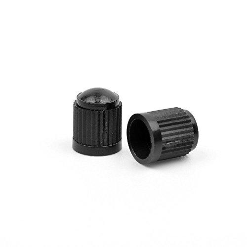 AST Works 100pcs Useful Black Plastic Car Bike Motorcycle Truck Wheel Tire Valve Stem Caps