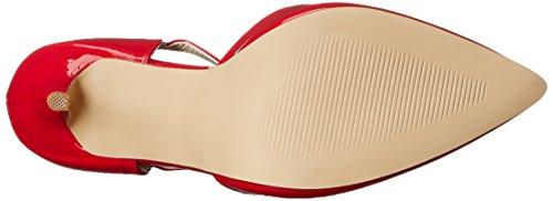 Pleaser AMU25/B Scarpe con Tacco da Donna Rosso (Red pat)