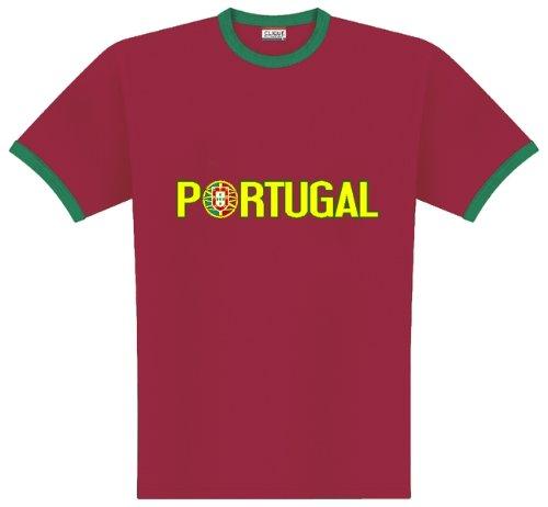 World of Football Ringer T-shirt Portugal Logo - 152