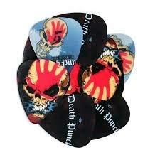 Five Finger Death Punch Metal Band Medium Gitarrenplektren, zufällige Auswahl, 10 Stück -