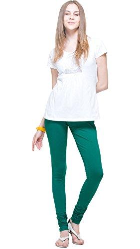Churidar Leggings Green color