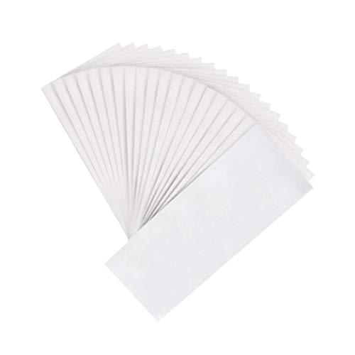 100 STÜCKE Weiß 7,8 '' x 2,7 '' Einweg Vlies Haarentfernung Wachs Streifen Haar Entfernen Papier Enthaarungsmittel Epilierer für Bein Arm Körper Gesicht