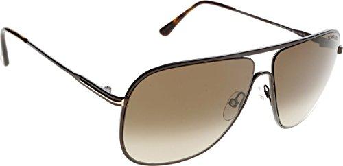 Tom Ford Herren FT0451 49K 60 Sonnenbrille, Braun (Marrone Scuro Op/Roviex Grad),