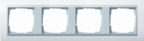Preisvergleich Produktbild Gira 021471 Abdeckrahmen 4-fach für alu Event, reinweiß matt