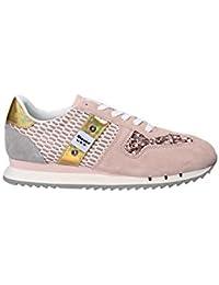 Blauer USA Sneakers per Donna in Camoscio e paiettes Rosa 5579ae5f5b5