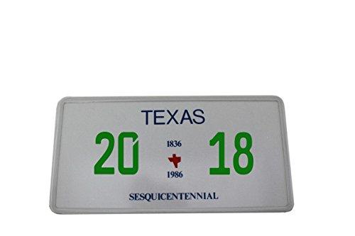 US Auto Kennzeichen STATE LICENSE PLATE Schilder USA Texas 1 mit Wunschprägung (grün)