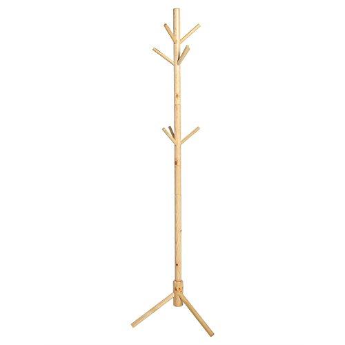 Yosoo 176cm Percheros de Estilo de Árbol con 9 Ganchos Percha de Madera Soporte de Sombrero Bolso Ropa Prenda Bufanda para Decoración de Casa (Madera)