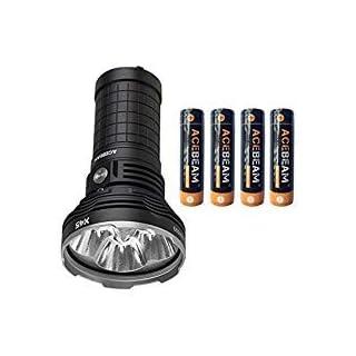ACEBEAM x45 Taschenlampe 18000 Lumen 583 Meter LED Taschenlampen Mit Akku (6500K)