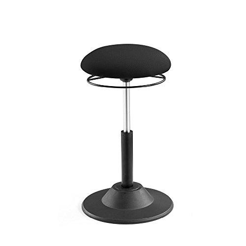 IntimaTe WM Heart Sitzhocker Bürohocker Fitness Stuhl, Modern Barhocker Drehhocker Bürostuhl Drehstuhl höhenverstellbar, Geeignet für den im Büro oder im Home Office,Schwarz
