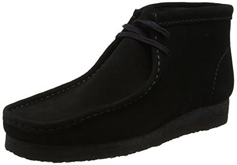 Clarks Originals Wallabee Boot, Mens Biker Boots, Black (Black Sde), 10.5 UK (45 EU)