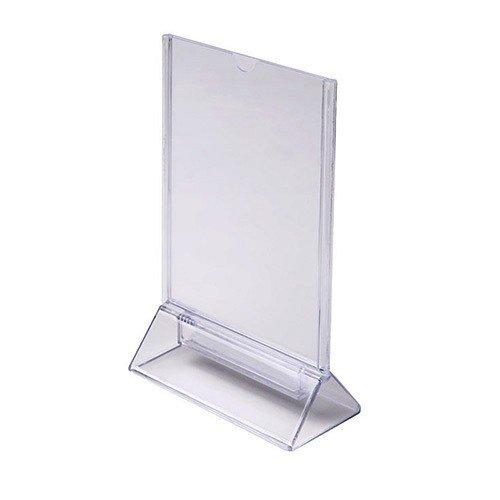 Supporto pubblicitario T-stand DIN A6 Ritratto Piedistallo da tavolo Menù da tavolo Supporto acrilico