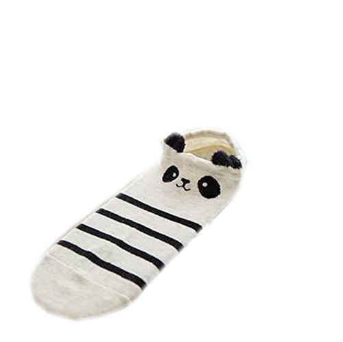 Demarkt Sneaker Socken Kurzsocken Füßlinge Damen Baumwolle Panda Muster