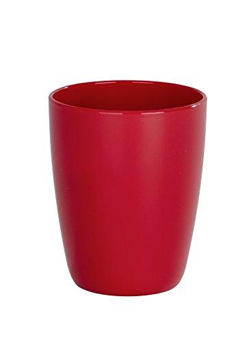 Wenko 21964100 Cocktail Gobelet à Dents Plastique Rouge 8,8 x 8,0 x 10,2 cm