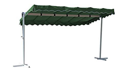 GRASEKAMP Qualität seit 1972 Stand Markise 3,75x2,25m Terrassenüberdachung Dubai Grün