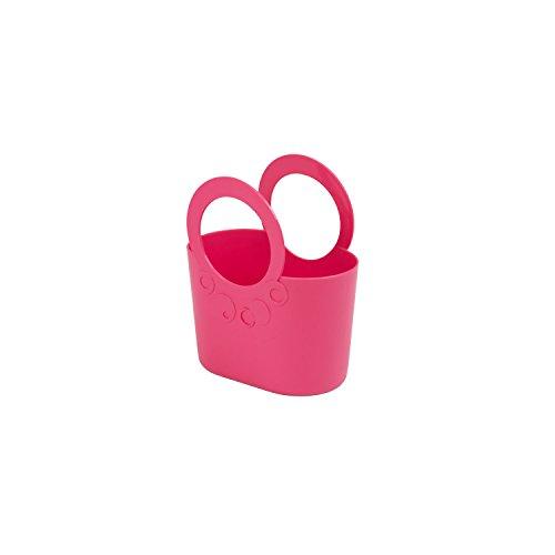 XS kleine moderne Handtasche 1,2 L rosa pink Griffe Lily Kosmetiktasche Basket