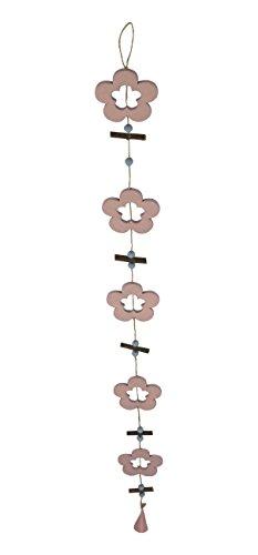 Deko Hänger aus Holz Blumen-Girlande 1 Stück (Schmetterling Und Blume Hängende Decken Dekoration)