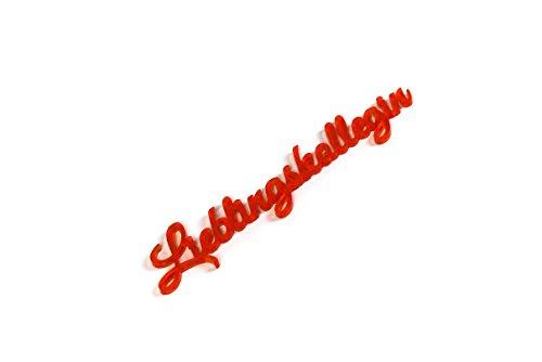 """3D Schriftzug """"Lieblingskollegin"""" in orange aus Acryl selbstklebend Wanddeko oder für Schreibtisch, Made in Germany (sozial & nachhaltig)"""