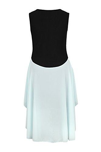 AO Extravagantes Abendkleid Vokuhila Kleid in Kleid Gr. XS - M Türkis