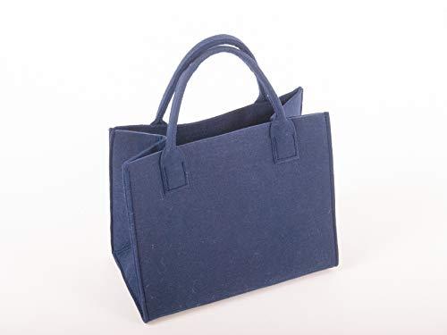 Modische Einkaufstaschen (Profisparen Modische FILZTASCHEN, Einkaufstasche, federleicht und stabil, erhältlich in Verschiedene Farben: Shopping Bag aus Filz (blau-Uni))
