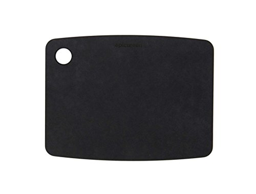 Epicurean Kitchen Series Cutting and Chopping Board, Compressed Wood Composite Black Slate, 20 x 15 x 0.6 cm