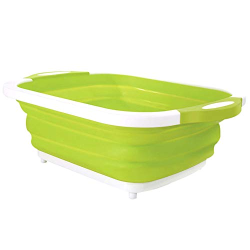 Dastrues Foldable Sink Vegetable Drain Drain Basket 4 In 1 Foldable Drain Basket Multifunction Board Tool for Kitchen Fruit Vegetable