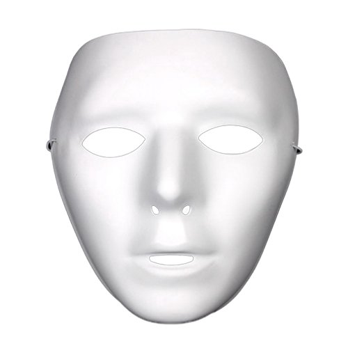 Yazilind Mode Ghost Head Masked Hip Hop Street Tanz Halloween Party Kostüm Masquerade Maske ()