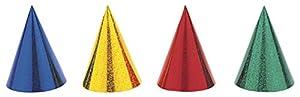Unique Party- Paquete de 8 gorros de fiesta, Multicolor (9302)