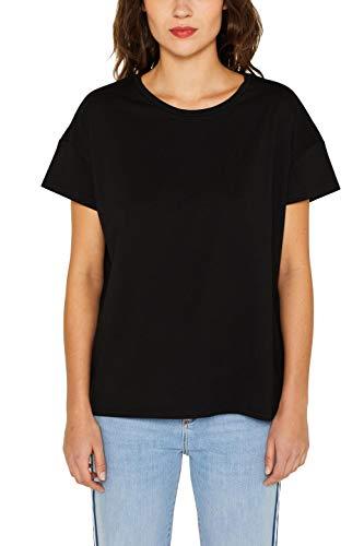 edc by ESPRIT Damen 049CC1K047 T-Shirt, Schwarz (Black 001), Medium (Herstellergröße: M)