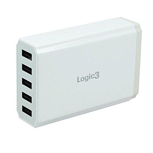Logic3 LG301 USB-Ladegerät, 5 Ports, Hi-Power (Ipod 5 Ladegerät Portable Billig)