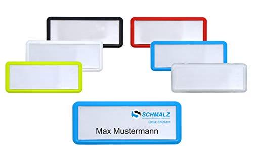 Druck und Magnet individuellem Logodruck 5 x Namensschild mit Magnet