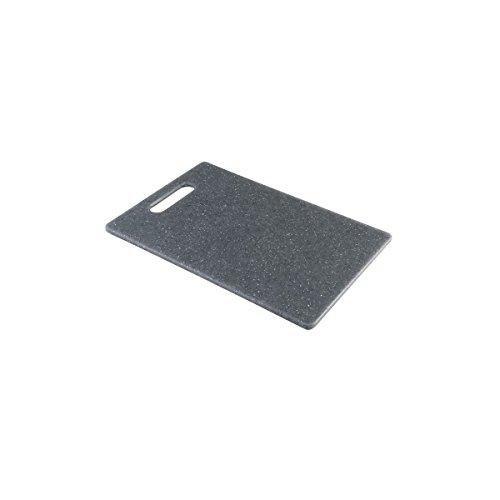 axentia 120897 Schneidebrett - Küchenbrett Kunststoff groß, Holz, grau, 36 x 27.5 x 0.8 cm, 4 Einheiten