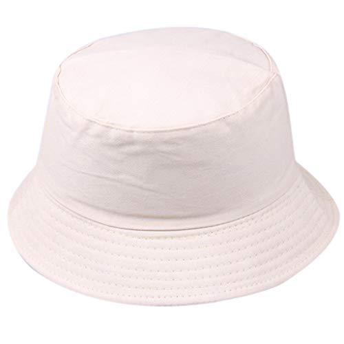 LOLIANNI Frauen Männer Reine Farbe Fischerhut Unisex Mode Wilde Sonnenschutzkappe Outdoor Hüte Kurze Mode Sommer Hut