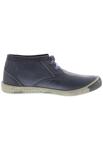 Softinos Indira Washed Leather, Derbies à lacets femme Bleu Marine