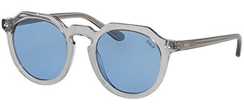 Ralph lauren occhiali da sole polo ph 4138 grey/light blue uomo