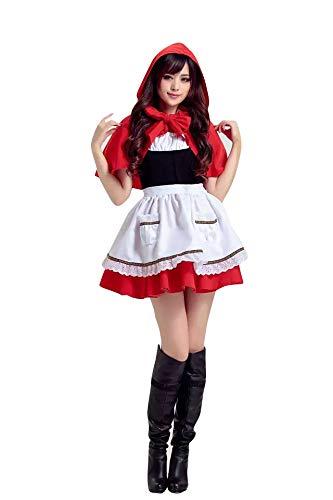thematys® Costume da Cappuccetto Rosso per Donne - Perfetto per Carnevale e Halloween - Taglia Unica 160-180 cm