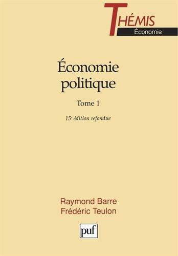 Économie politique, tome 1, 15e édition refondue
